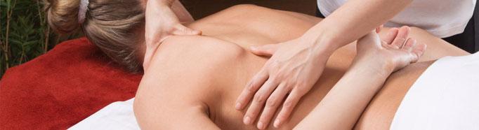 Massaggio sui punti agopuntura